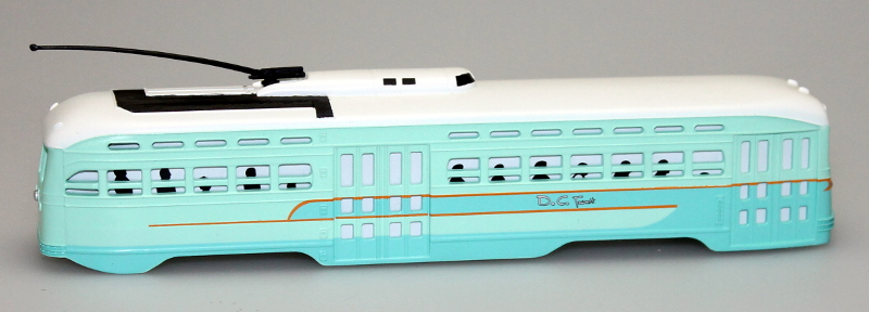 Body Shell - Washington DC Transit (PCC Trolley)(HO Scale)