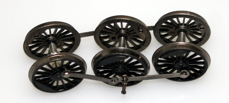 Drive Wheels w/Side Rods (HO K-4 4-6-2)