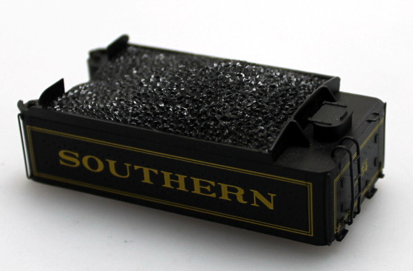 Tender Shell - Southern, Black (HO Scale 4-4-0 Richmond)