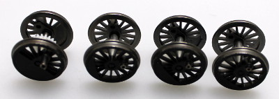 Drive Wheels - Black (HO 2-8-4 Berkshire)
