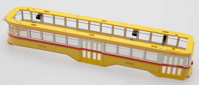 Body Shell - Baltimore Transit Co. (HO Peter Witt)