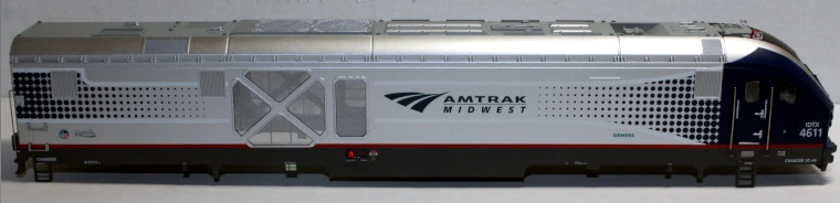 Loco Shell- Amtrak MidWest #4611 ( SC44 Charger )
