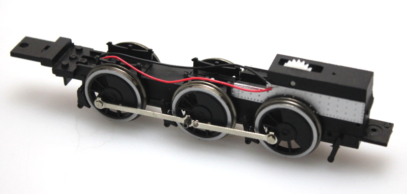 Complete Chassis - Black Wheels (ON30 2-6-0)