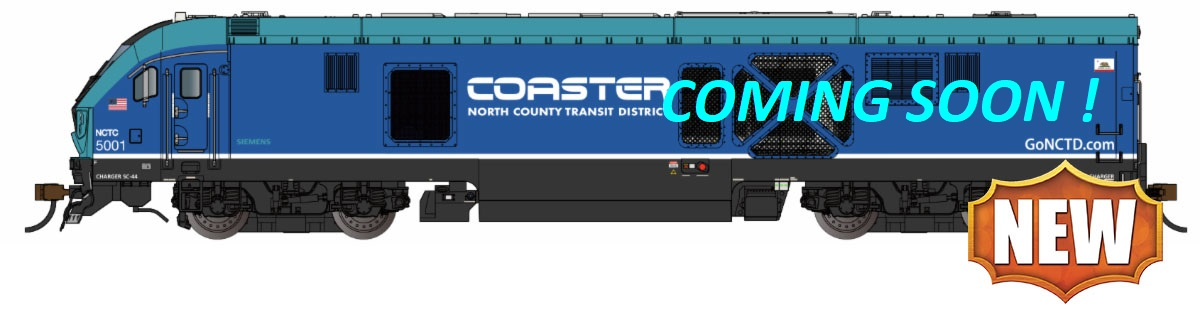 Loco Shell-NCTD COASTER #5001 ( SC-44 Charger )
