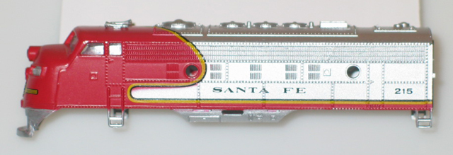 Body Shell F-9 - Santa Fe (N Scale) - Click Image to Close