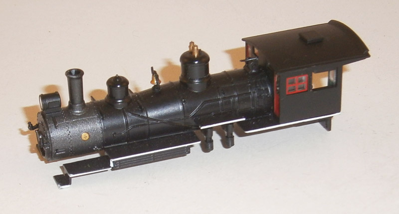Loco Shell - Unlettered, Red Windows & White Stripe (N 4-6-0)