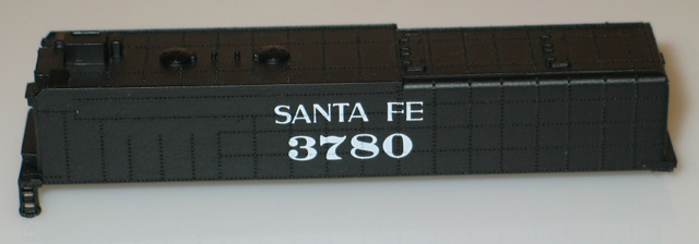 Tender Shell - Santa Fe #3780 (N Scale 4-8-4 Northern)