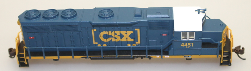 Body Shell - CSX #4451 (N GP40) - Click Image to Close